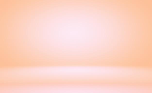 Abstrakte unschärfe des pastellfarbenen schönen pfirsichrosafarbenen himmels mit warmem tonhintergrund für design als banner, diashow oder andere.