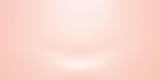 Abstrakte unschärfe des pastellfarbenen schönen pfirsichrosafarbenen himmels mit warmem tonhintergrund für design als banner, diashow oder andere