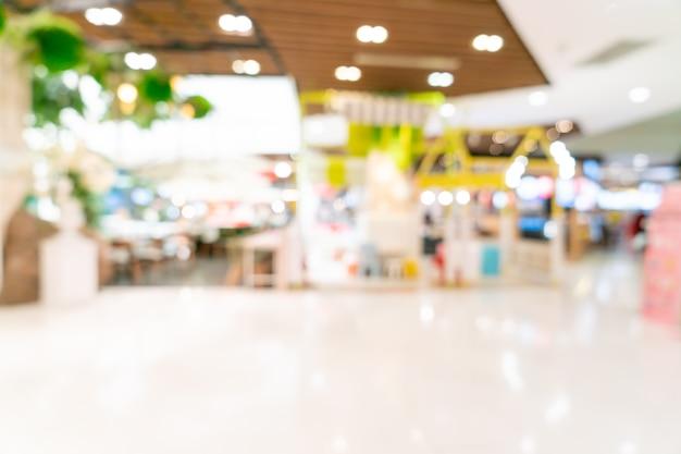 Abstrakte unschärfe einkaufszentrum für