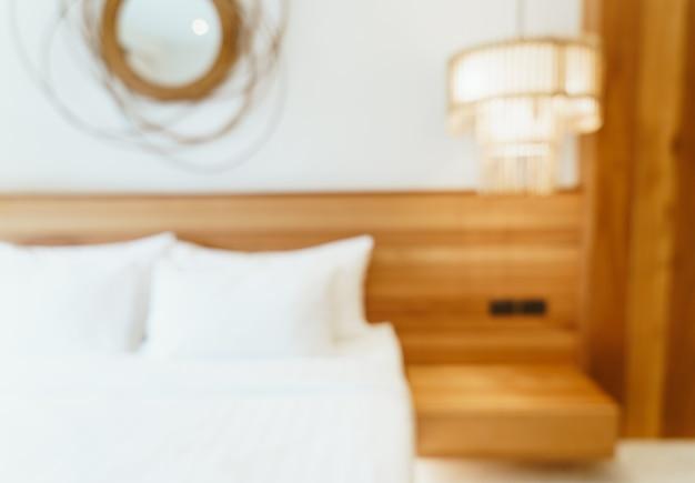 Abstrakte unschärfe hotel schlafzimmer interieur für hintergrund