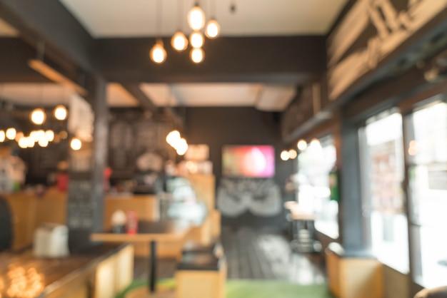 Abstrakte unschärfe im café