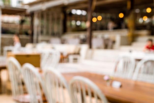 Abstrakte unschärfe im freien café restaurant