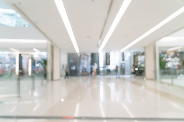 Abstrakte unschärfe im luxuseinkaufszentrum