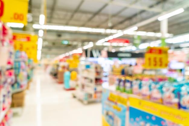 Abstrakte unschärfe im supermarkt für