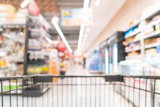Abstrakte unschärfe im supermarkt