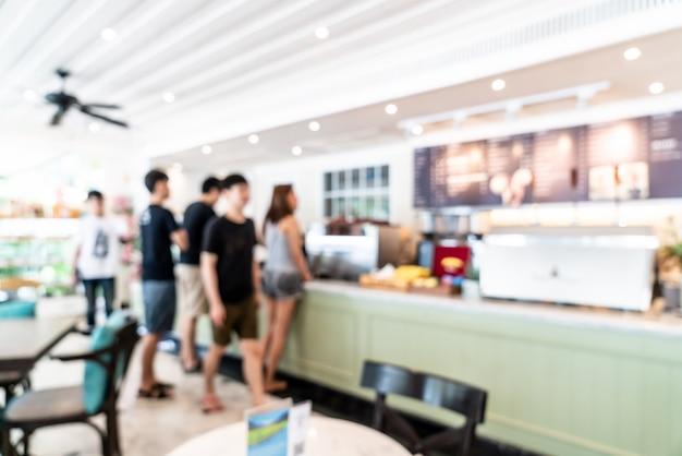 Abstrakte unschärfe in der kaffeestube und im caférestaurant für