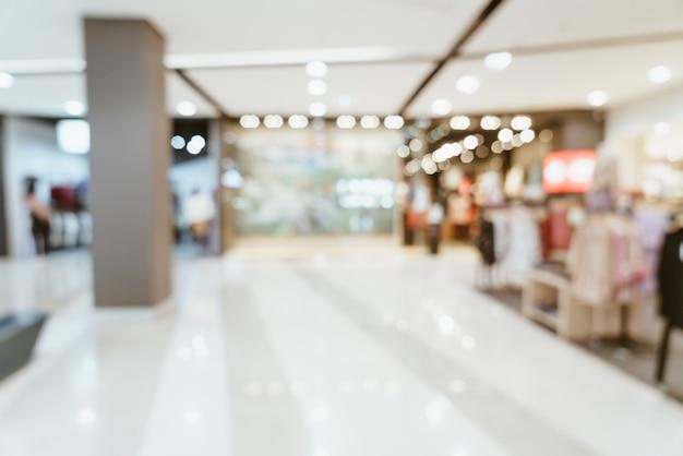 Abstrakte unschärfe luxus-einkaufszentrum und einzelhandelsgeschäft für hintergrund for