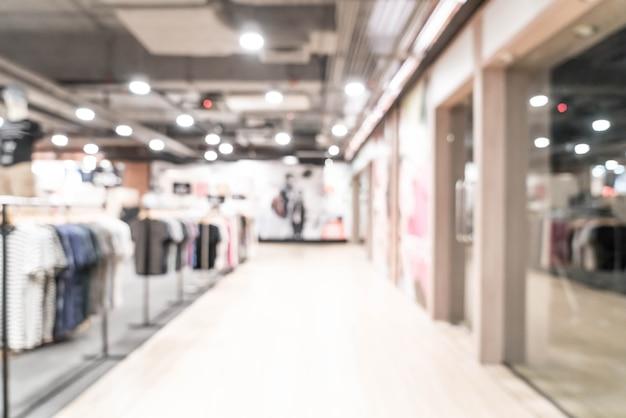 Abstrakte unschärfe luxuseinkaufszentrum und einzelhandelsgeschäft für hintergrund