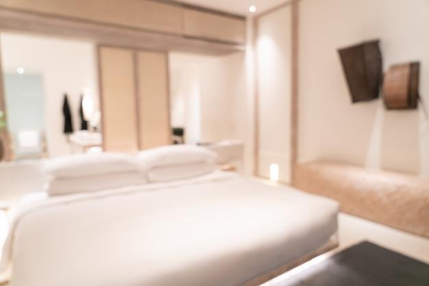 Abstrakte unschärfe luxushotel resort schlafzimmer interieur für hintergrund