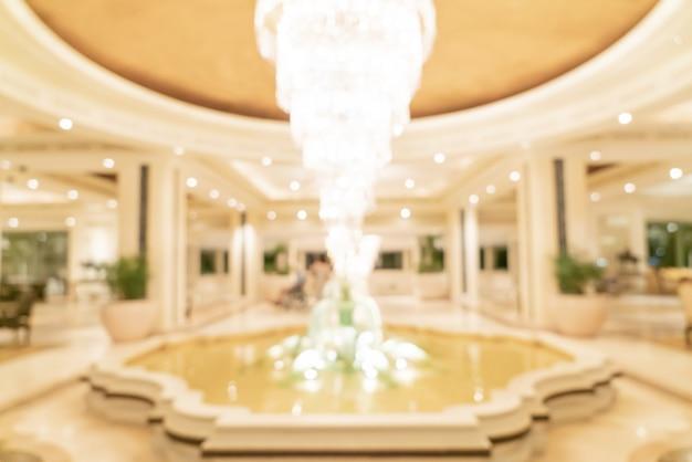 Abstrakte unschärfe luxushotellobby für hintergrund