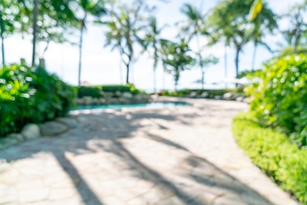 Abstrakte unschärfe luxushotelresort für hintergrund - urlaubs- und urlaubskonzept