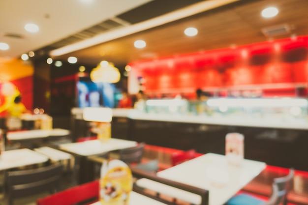 Abstrakte unschärfe restaurant