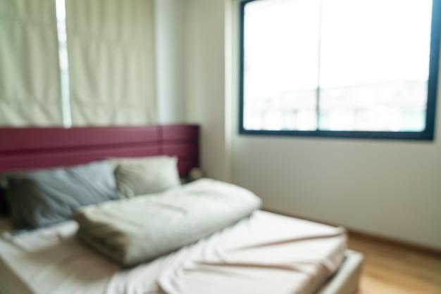 Abstrakte unschärfe schlafzimmer interieur für hintergrund