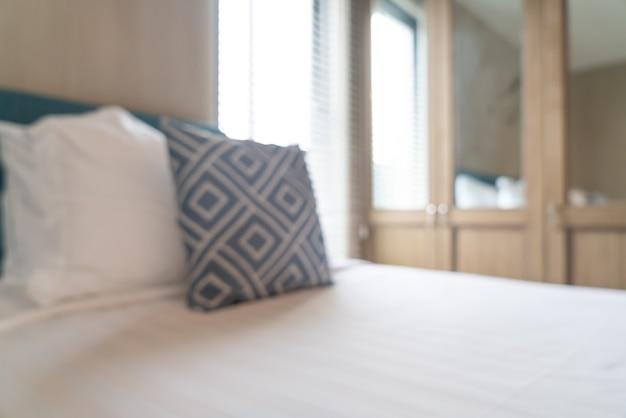 Abstrakte unschärfe schöner luxushotelschlafzimmerinnenraum