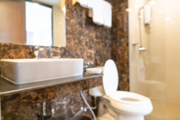 Abstrakte unschärfe toilette und toilette