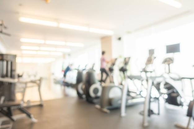 Abstrakte unschärfe turnhalle und fitness