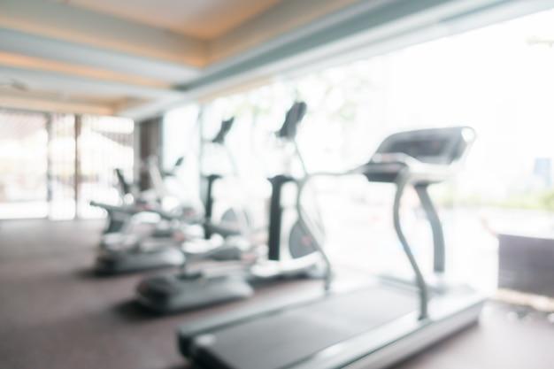Abstrakte unschärfe turnhalle und fitnessraum