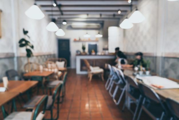 Abstrakte unschärfe und defocus in coffee-shop und café für den hintergrund