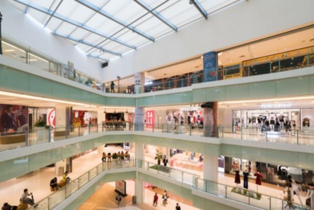Abstrakte unschärfe und defocused einkaufszentrum im kaufhausinnenraum
