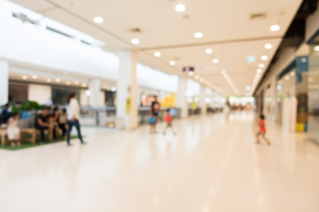 Abstrakte unschärfe und defocused einkaufszentrum