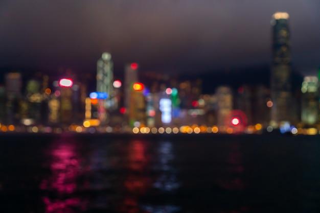 Abstrakte unschärfe und defokussiert hong kong city
