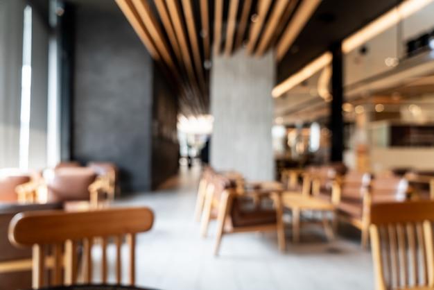 Abstrakte unschärfe und defokussiert in café café und restaurant