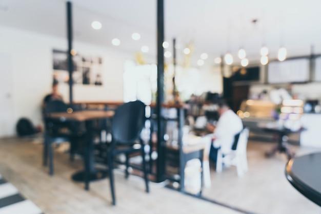 Abstrakte unschärfe und defokussiert in coffee-shop-café für den hintergrund