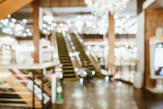 Abstrakte unschärfe und defokussiert in luxuseinkaufszentrum und einzelhandelsgeschäft für hintergrund