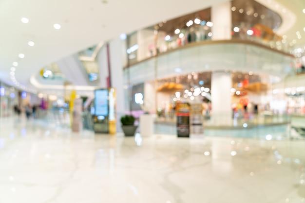 Abstrakte unschärfe und defokussiert luxus-einkaufszentrum