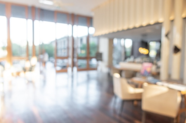 Abstrakte unschärfe und defokussierte luxushotellobby