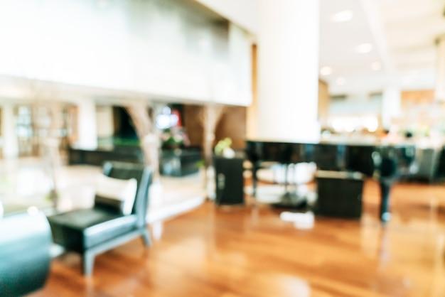 Abstrakte unschärfe und defokussierter lobbybereich des luxushotels als hintergrund