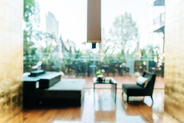 Abstrakte unschärfe und defokussierter luxushotellobbybereich für die oberfläche