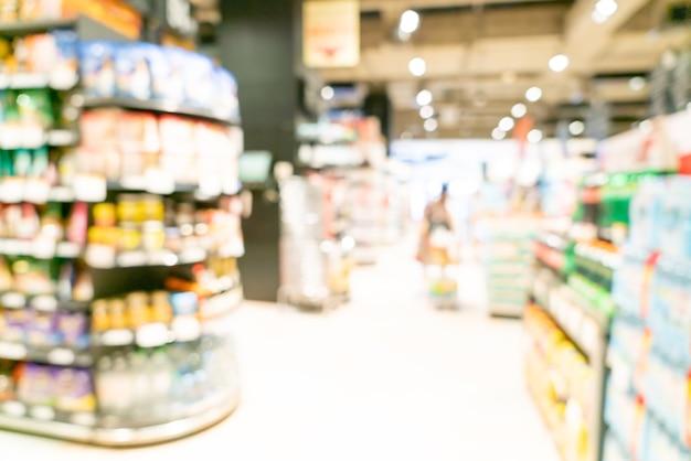 Abstrakte unschärfe und defokussierter supermarkt für hintergrund