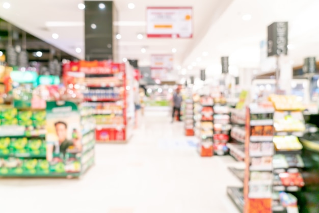 Abstrakte unschärfe und defokussierter supermarkt