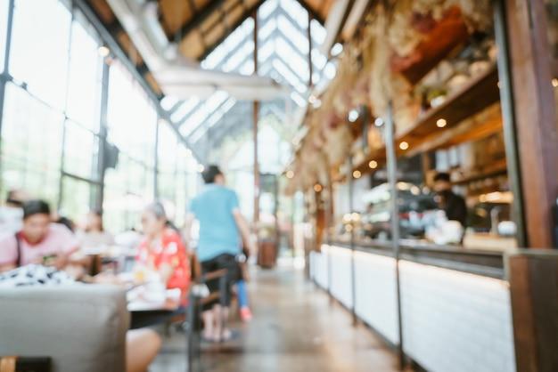 Abstrakte unschärfe und defokussiertes café-restaurant für hintergrund