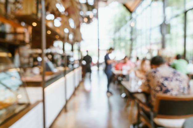 Abstrakte unschärfe und defokussiertes café-restaurant