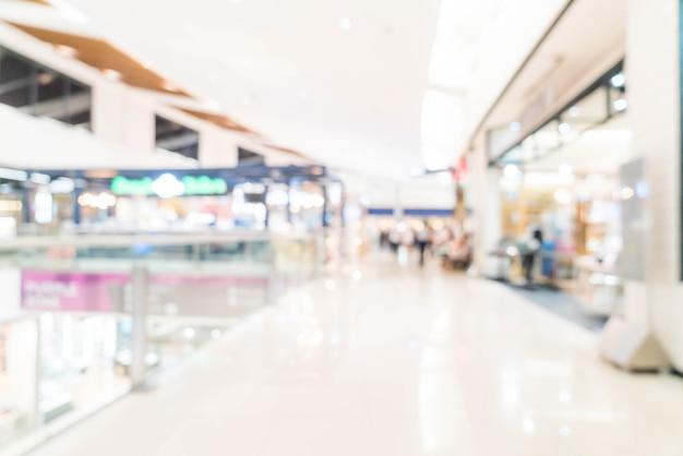 Abstrakte unschärfe und defokussiertes einkaufszentrum und einzelhandelsgeschäft