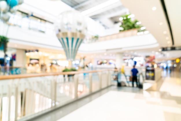 Abstrakte unschärfe und defokussiertes luxus-einkaufszentrum und einzelhandelsgeschäft