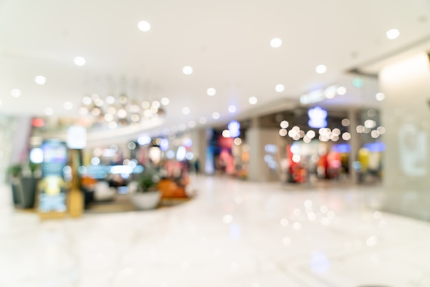 Abstrakte unschärfe und defokussiertes luxus-einkaufszentrum