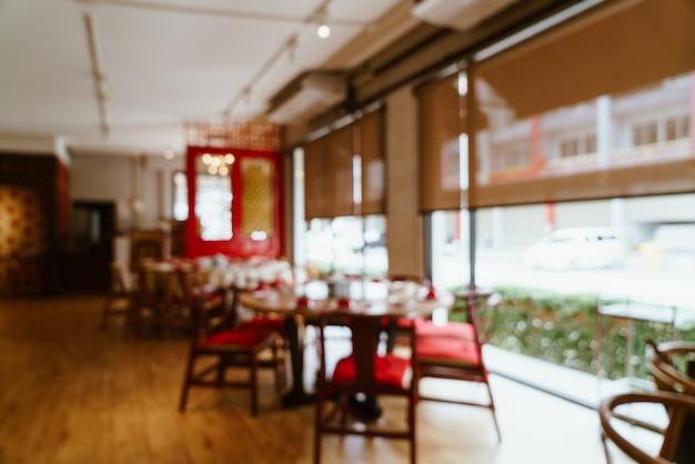 Abstrakte unschärfe und defokussiertes restaurant für hintergrund - vintage-effektfilter