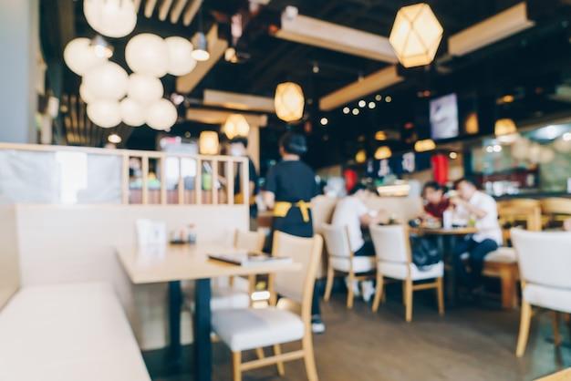 Abstrakte unschärfe und defokussiertes restaurant für hintergrund