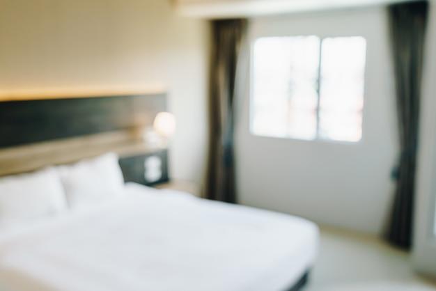 Abstrakte unschärfe und defokussiertes schlafzimmerinterieur