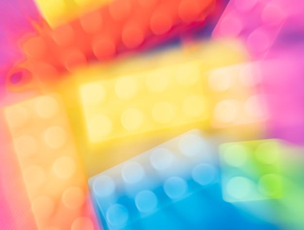 Abstrakte unschärfe voller farbe block spielzeug textur hintergrund