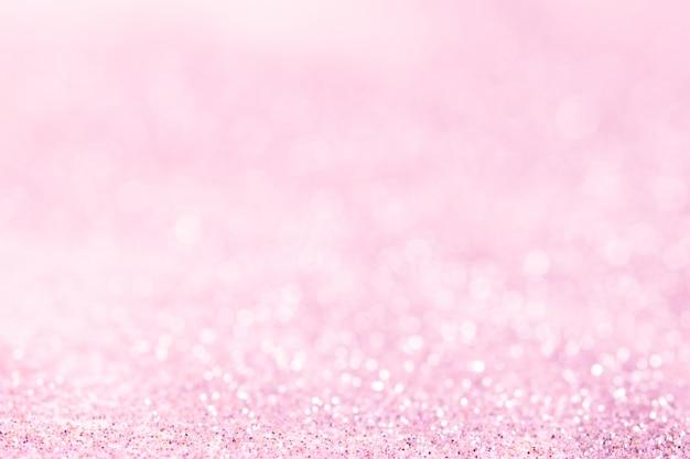 Abstrakte verschwommene rosa glitzer bokeh