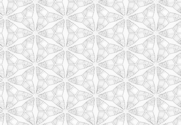 Abstrakte volumetrische textur 3d illustration