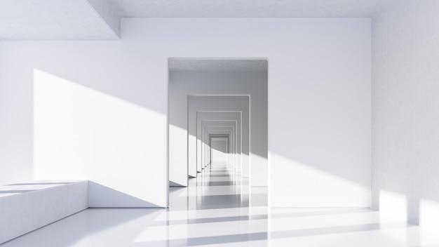 Abstrakte weiße architektur b.