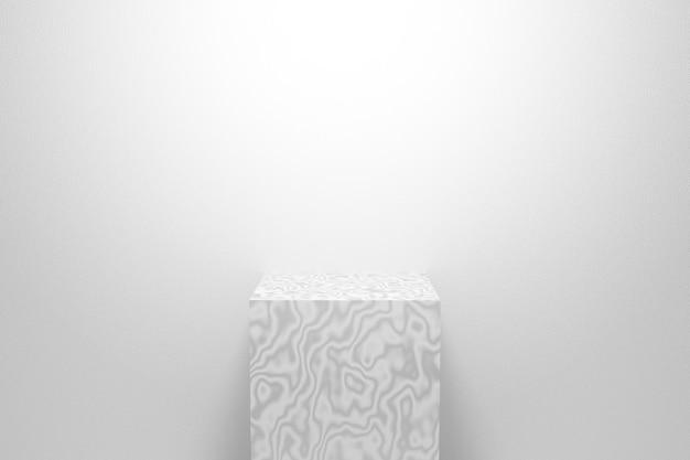 Abstrakte weiße hintergrundszene. 3d-rendering für podium, podest, bühne, display-produkt.