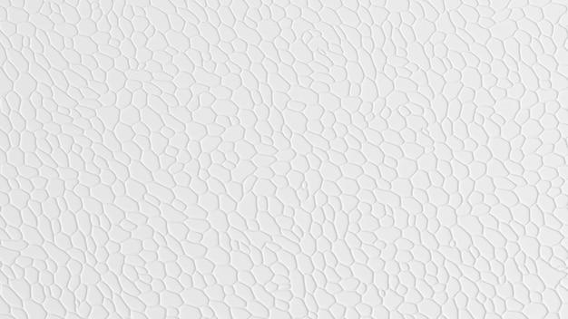Abstrakte weiße textur mit zellen verschiedener formen. 3d-visualisierung.