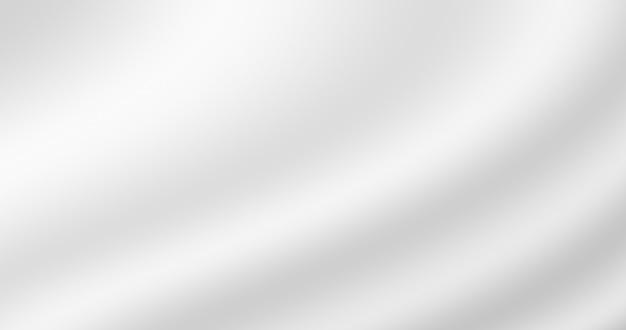 Abstrakte weiße verlaufsfarbe glatte gewellte seide als weicher stoffbeschaffenheitshintergrund für dekoratives design