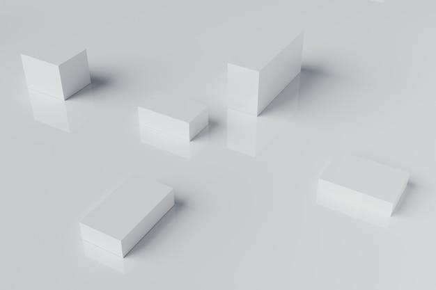 Abstrakte weiße würfelblock-3d-wiedergabe